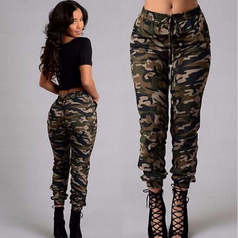 pantalones casuales con estampado de moda NHJC326065's discount tags