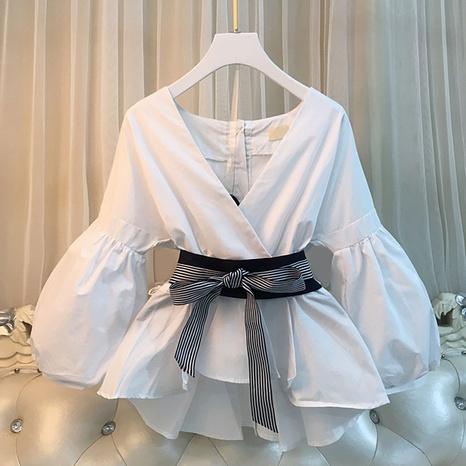 Top casual de la camisa de la moda de la cintura del verano de las señoras nuevo NHJC327606's discount tags
