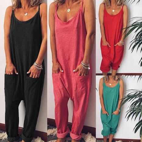 Combinaison sexy pour femmes d'été avec bretelles licou NHWA327592's discount tags