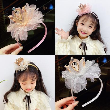 Korea children's crown headband wholesale NHCQ326075's discount tags