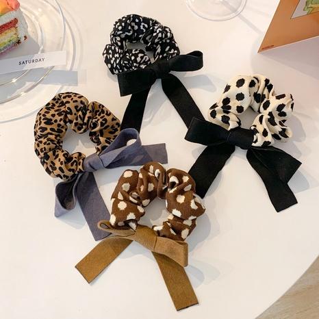 fashion leopard velvet bow hair scrunchies  NHCQ326077's discount tags