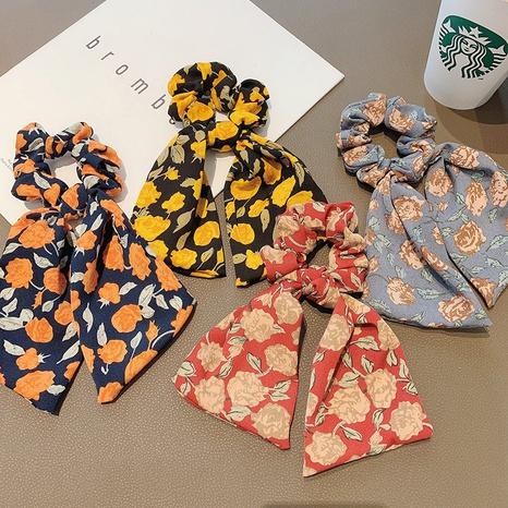 Korean fashion long ribbon pearl hair scrunchies  NHCQ326078's discount tags