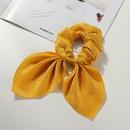 Bowknot Pure Color Knotted Bunny Headband Bulk Headwear NHAU326154