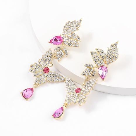 Pendientes de mariposa de múltiples capas de diamantes de aleación de moda NHJE326174's discount tags