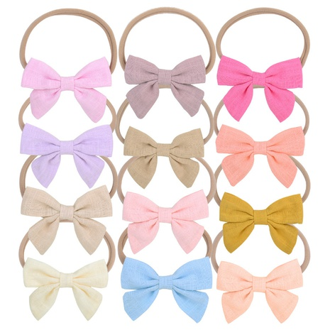 fashion simple cotton bow hair ring set NHMO326194's discount tags