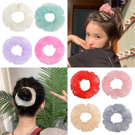 new fashion simple solid color hair scrunchies set  NHMO326197's discount tags