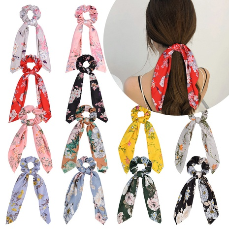 new fashion printing tassel knotted hair scrunchies set  NHMO326200's discount tags