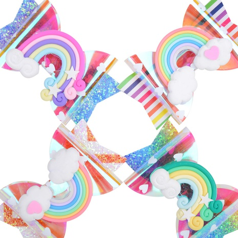 new cute children's colorful bow hairpin set NHMO326212's discount tags
