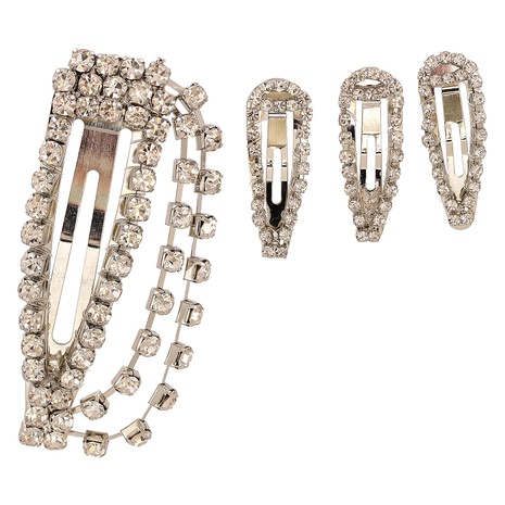 Fashion diamond hairpin three-piece set NHJJ326276's discount tags