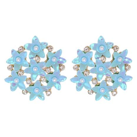Simple Multicolor Flower Ball Stud Earrings  NHJJ326293's discount tags