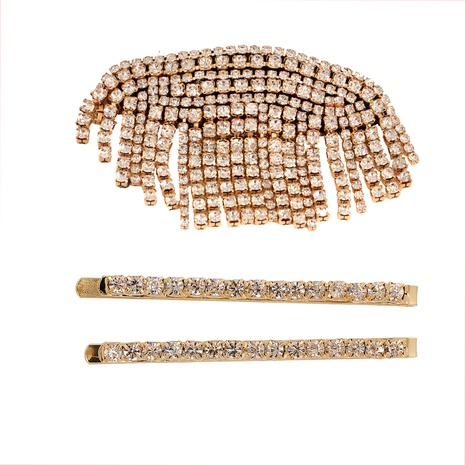 fashion full diamond tassel hairpin set NHJJ326306's discount tags