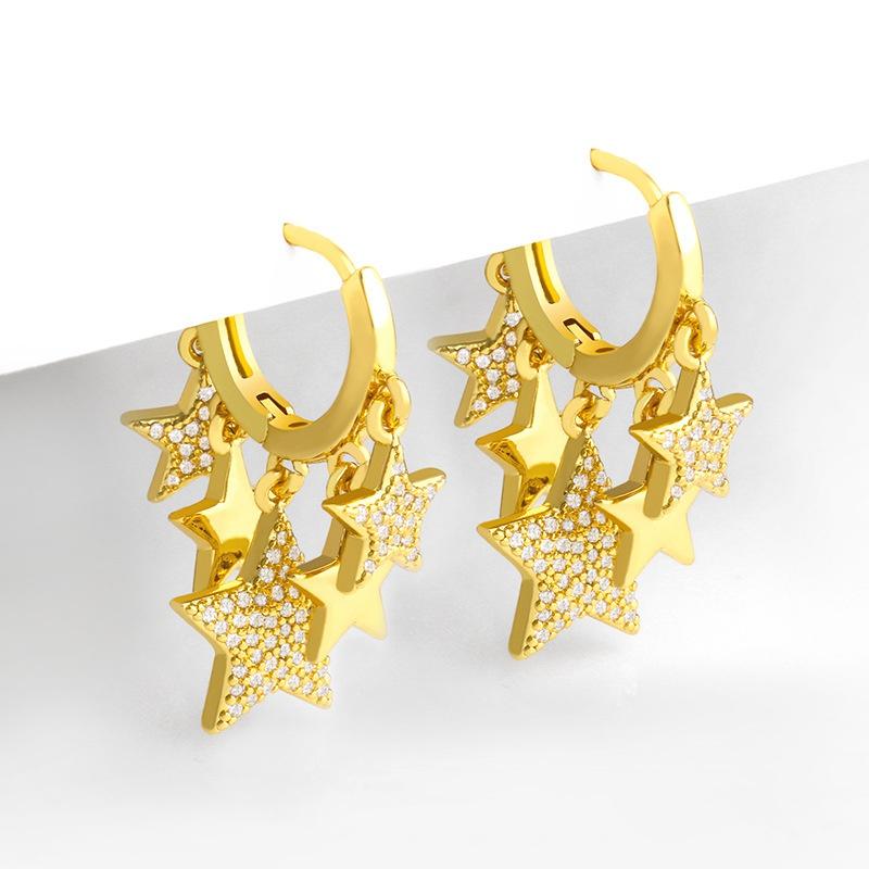 fashion star metal earrings wholesale NHAS326337