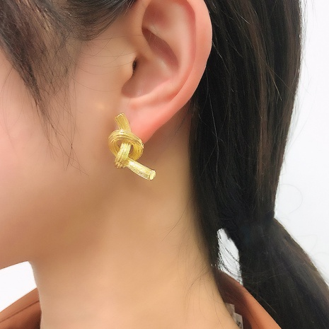 fashion knotted geometric simple earrings NHMD326376's discount tags