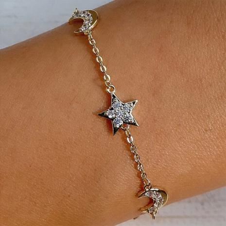fashion flashing diamond star and moon bracelet  NHMD326379's discount tags