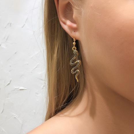 fashion hip hop snake-shaped earrings NHMD326381's discount tags