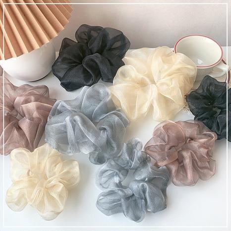 Korean fashion cute solid color hair scrunchies NHOF326384's discount tags