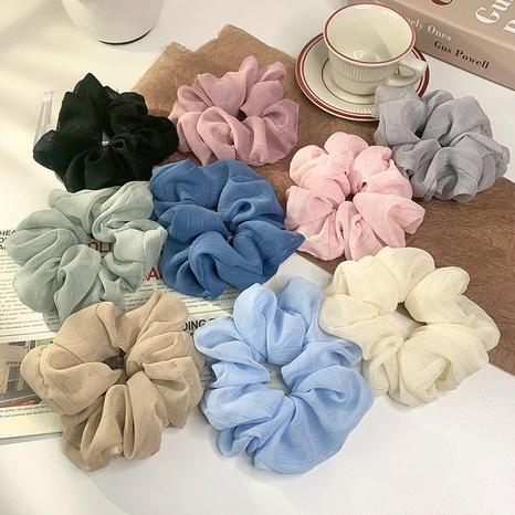 Korean silk flower color hair scrunchies wholesale NHOF326389's discount tags
