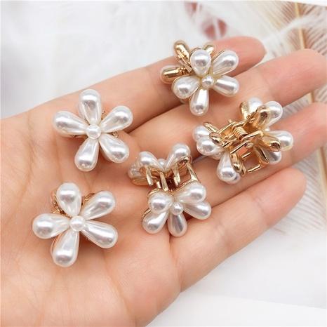 Korean fashion pearl flower hairpin  NHOF326386's discount tags