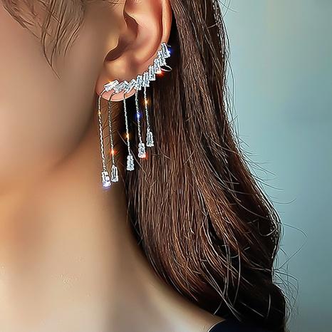 Korean long wings tassel zircon earrings wholesale NHDP326413's discount tags