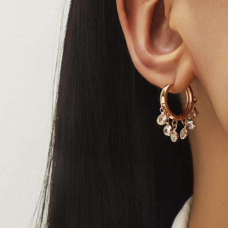 simple cute light beads short tassel earring NHDP326421's discount tags