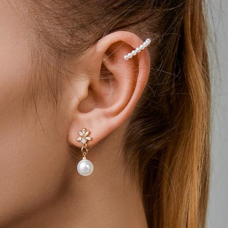 Korean simple geometric pearl ear clip  NHDP326424's discount tags