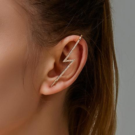 fashion zircon piercing lightning diamond earrings wholesale NHDP326434's discount tags