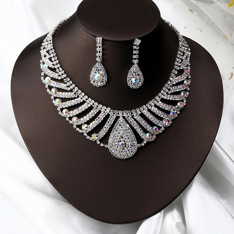 fashion rhinestone necklace earrings set NHNZ326439's discount tags
