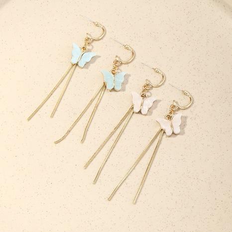 Pendientes de mariposa acrílicos de borla larga de moda NHNZ326440's discount tags