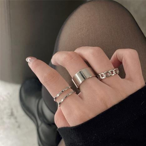 Verstellbarer Ring aus koreanischer Titanstahlöffnung dreiteilig NHPF326448's discount tags