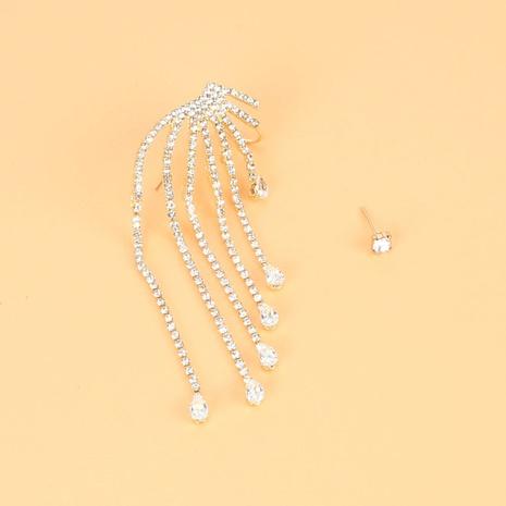 fashion asymmetrical alloy tassel earrings  NHCT326457's discount tags