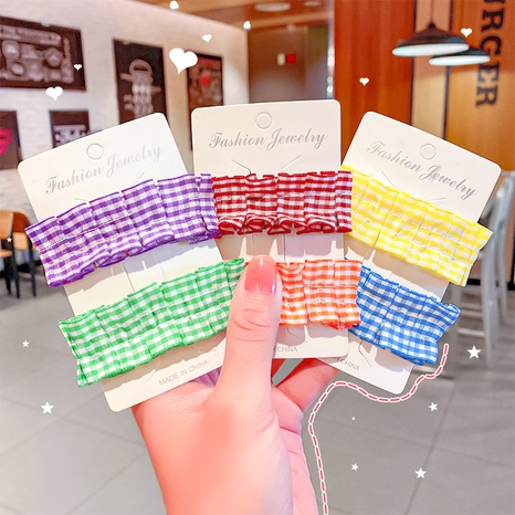 Fashion fabric candy color hair clip NHNA326465's discount tags