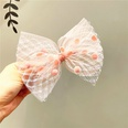 NHCQ1506444-Pink-net-yarn-ball-bow-hairpin