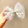 NHCQ1506446-Temperament-gray-net-yarn-ball-bow-hairpin