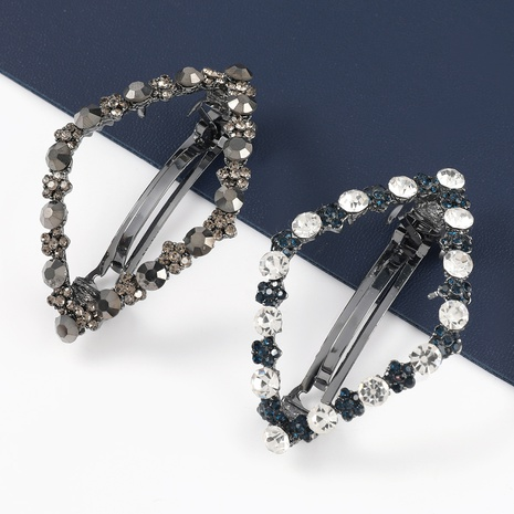 Korean fashion diamond-shaped alloy acrylic geometric hairpin NHJE326478's discount tags