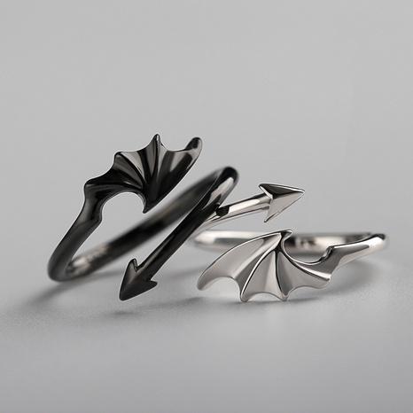 Korean simple demon wings adjustable ring NHDP326420's discount tags