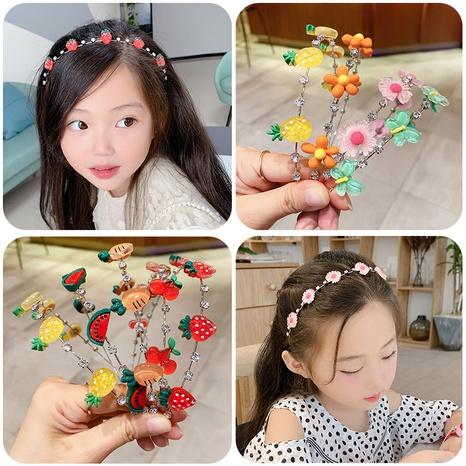 Cute children's resin fruit headband  NHWB326507's discount tags