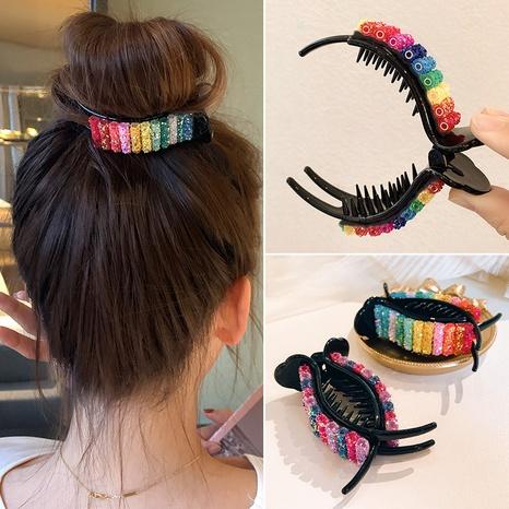 Korea cute candy color large rainbow hair clip NHWB326529's discount tags