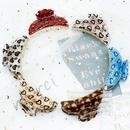 Korean fashion acrylic leopard print hair clip NHDM326573