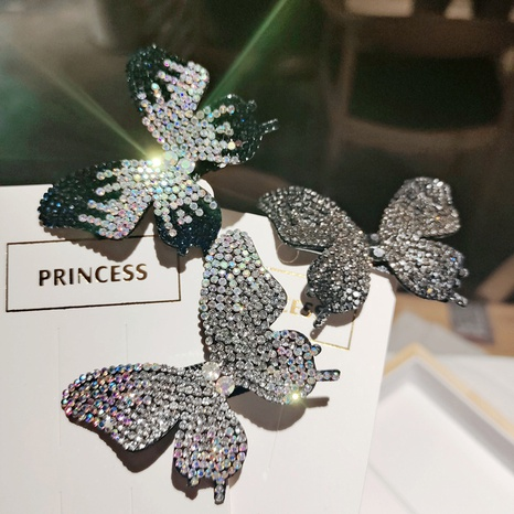 Korean simple color diamond butterfly hairpin NHDM326578's discount tags