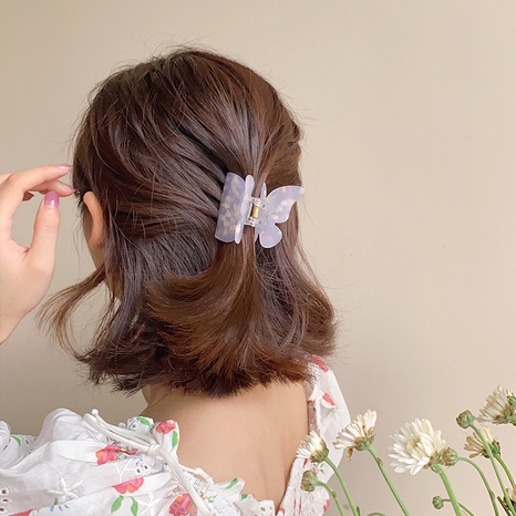 Korean retro butterfly acrylic hairpin NHDM326579's discount tags