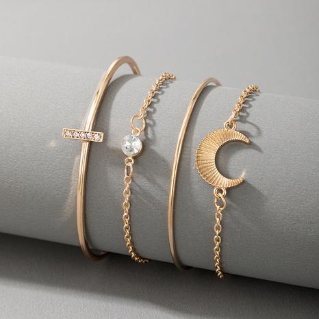 horns moon diamond bracelet set NHGY326659's discount tags