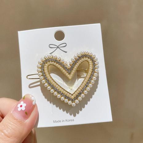 Korean heart shape hairpin wholesale NHMS326721's discount tags
