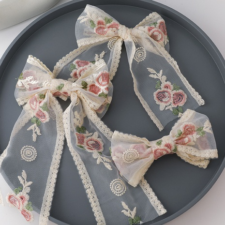 Korean embroidery rose streamer hairpin  NHMS326725's discount tags
