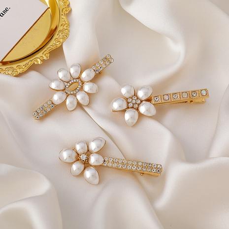 fashion flower duckbill pearl hairpin  NHMS326728's discount tags