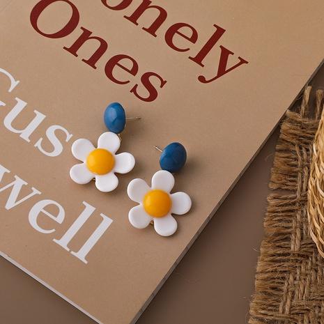 fashion simple acrylic flower earrings NHMS326743's discount tags