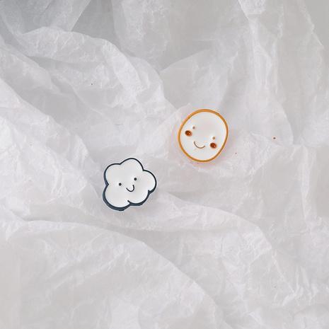 einfache Cloud Smiley asymmetrische Ohrringe NHMS326745's discount tags