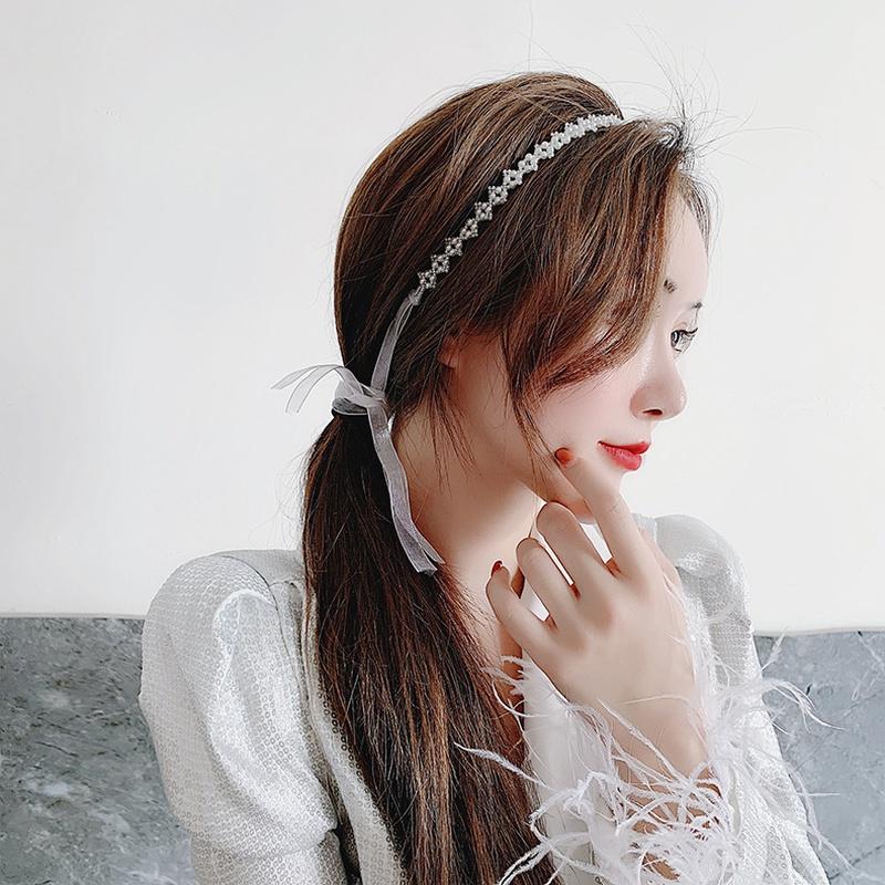 Fashion pearl hair band headdress hair accessory  NHMS326764