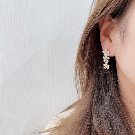 Korean flower pendant alloy earrings  NHHI326842's discount tags