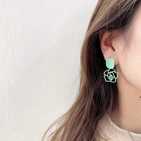 Korean candy color flowers earrings NHHI326843's discount tags
