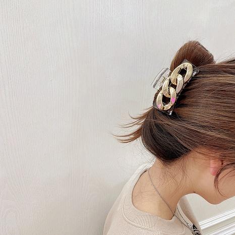 Korean geometric chain shape acrylic hairpin NHHI326852's discount tags